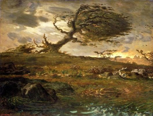 Jean-François Millet. Gust of wind