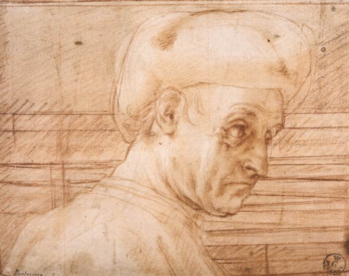 Jacopo Pontormo. Sketch of a man in a hat