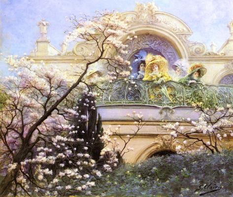 Жорж Жюль Виктор Клаирин. На балконе