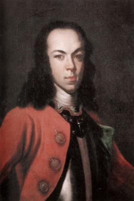 Johann Tannauer. Portrait of Tsarevich Alexei Petrovich