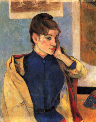 Paul Gauguin. Portrait Of Madeleine Bernard