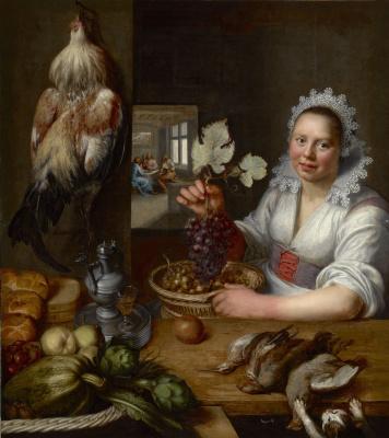 Франс Снейдерс. Сцена на кухне. Христос в Эммаусе