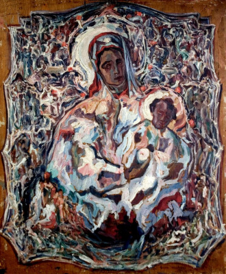 Alexey (Oleksa) Novakovsky. Madonna in a silver robe