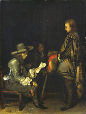Gerard Terborch (ter Borch). The officer reads the letter