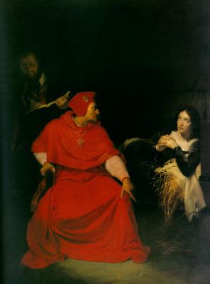 Поль Деларош. Жанна д'Арк в тюрьме