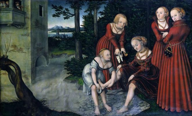 Lucas the Younger Cranach. David and Bathsheba