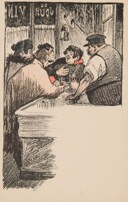 Theophile-Alexander Steinlen. At the bar