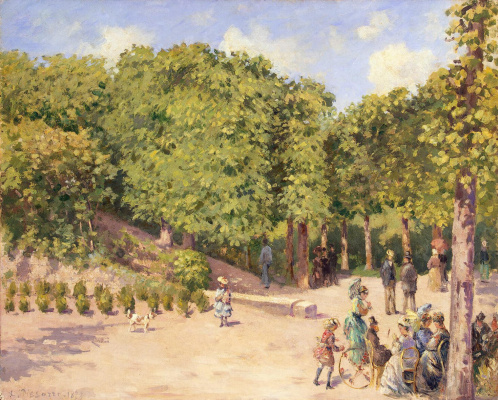 Camille Pissarro. Town Park in PONTOISE