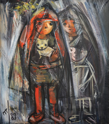 Павел Абрамович Тайбер. Дети под дождем