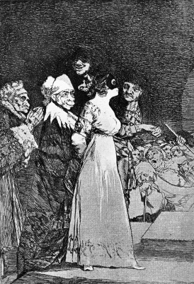 """Francisco Goya. They say """"Yes"""" and give a hand to the first comer. (Series """"Caprichos"""", page 2)"""