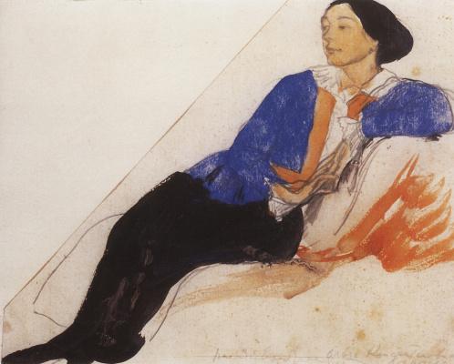 Zinaida Serebryakova. Portrait Of O. K. Lansere. Sketch