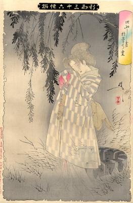 """Tsukioka Yoshitoshi. Okiku. The series """"New forms of thirty six ghosts"""""""