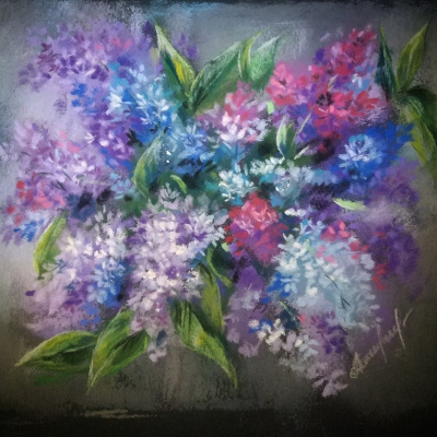 Алина Евгеньевна Шварёва (Галкина). Lilac bouquet