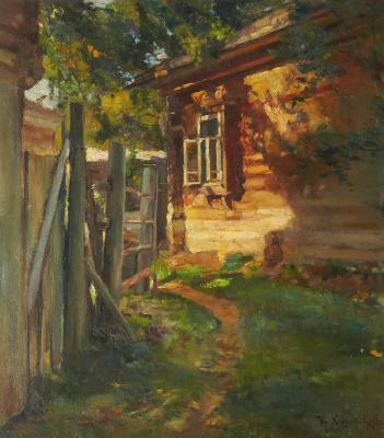 Николай Николаевич Хохряков. Sunlit courtyard