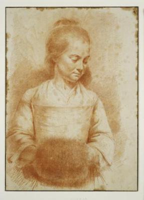 Жан-Жак де Буассье. Девушка с муфтой