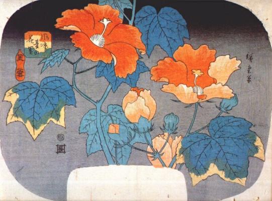 Utagawa Hiroshige. Blooming lilies