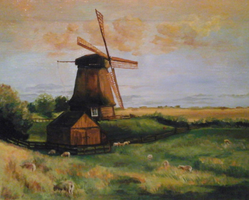 Stetskaya Alexandrovna Elena. Pasture at the mill