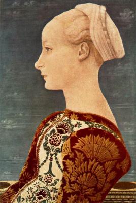 Антонио Поллайоло. Портрет молодой женщины2