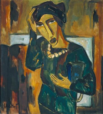 Karl Schmidt-Rottluff. A woman with a bag