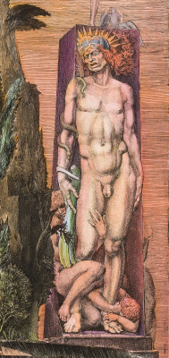 Ernst Fuchs. The temptation of St. Simeon the Stylite. Fragment I