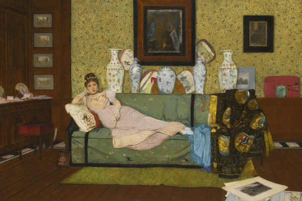 John Atkinson Grimshaw. In the house of the artist. Dreams