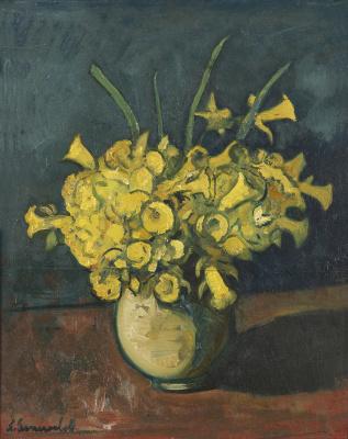 Nikolay Vladimirovich Sinezubov. Still life with carnations