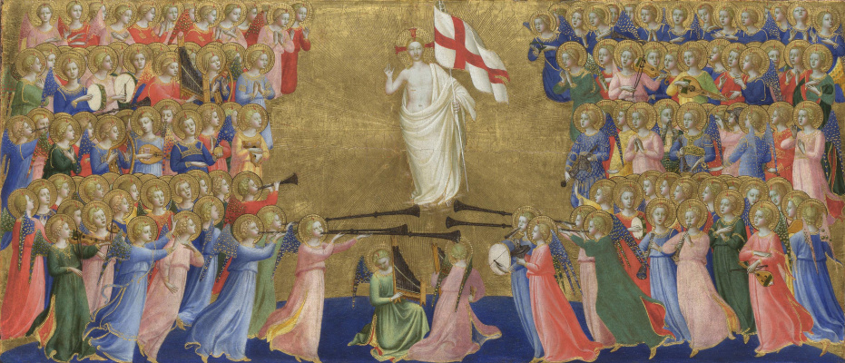 Fra Beato Angelico. Christ in glory. The limit of the altar of St. Dominic in Fiesole