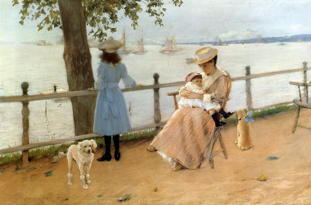 William Merritt Chase. In the second half of the day by the sea