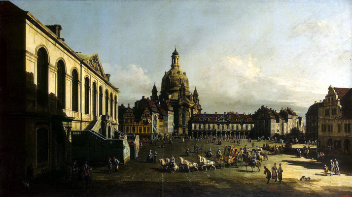 Bernardo Bellotto. The area of the New market in Dresden