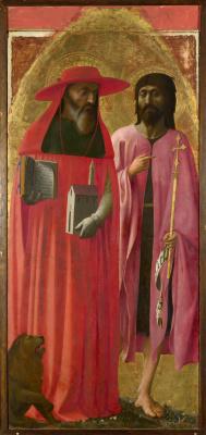 Tommaso Masaccio. Saint Jerome and John the Baptist