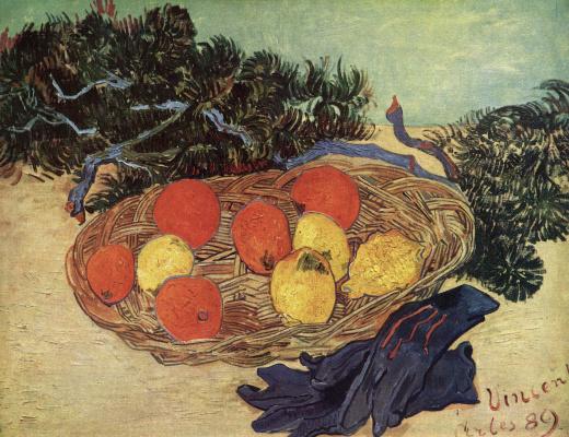 Винсент Ван Гог. Натюрморт с апельсинами, лимонами и голубыми перчатками