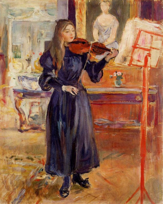 Berthe Morisot. Exercise on the violin