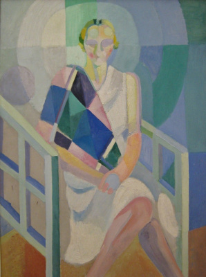 Robert Delaunay. Portrait of Madame Heim