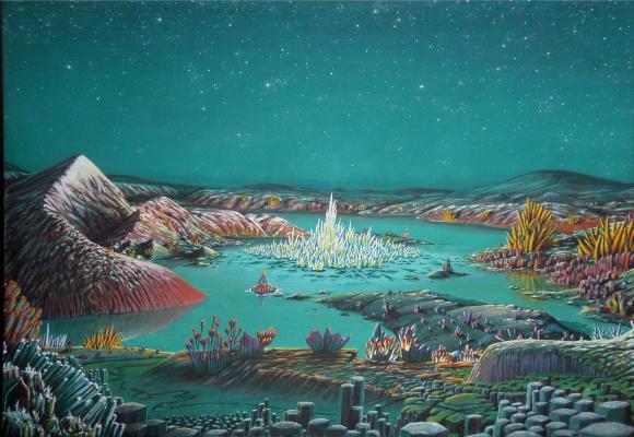 Ilya Gennadievich Borisov. Flowers Belovodye. Living crystal
