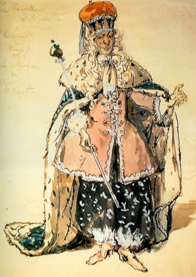 "Alexander Nikolaevich Benoit. Costume design Marquis Light for the ballet ""Armida's Pavilion"""
