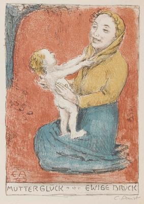 Cuno Amiè. Happy mother