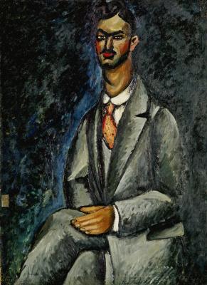 Ilya Ivanovich Mashkov. Portrait of the poet