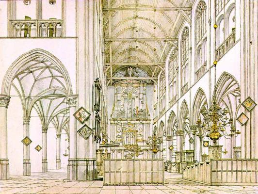 Питер Джансс Сенредам. Интерьер церкви в Алкмар