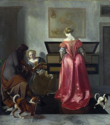 Иаков Очтервелт. Две женщины и мужчина пишут музыку