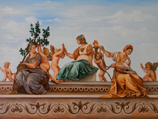Александра Демидова. Копия картины