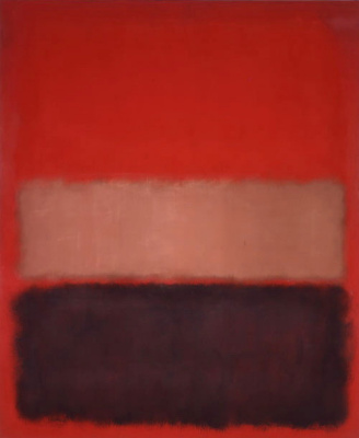 No. 46 (Black, ochre, red on red)