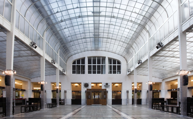 Otto Koloman Wagner. Main Hall, Austrian Postal Savings Bank