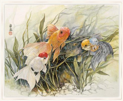 Чжэнь Лин-Куан. Три золотых рыбок