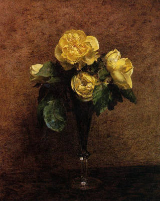 Анри Фантен-Латур. Желтые розы