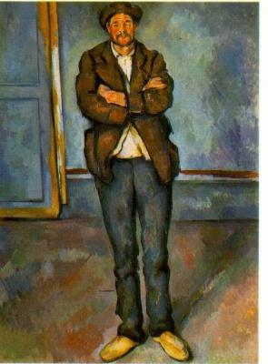 Поль Сезанн. Мужчина в комнате
