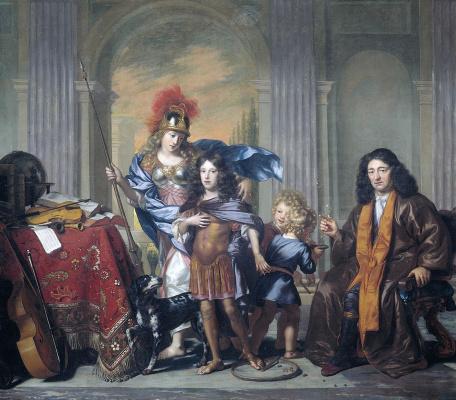 Адриен Бэкер. Энтони де Борд оставляет сына Антония на попечение Минервы