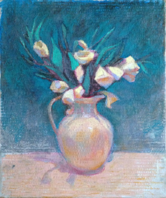 Evgeniya Kolchina. Белые цветы в кувшине