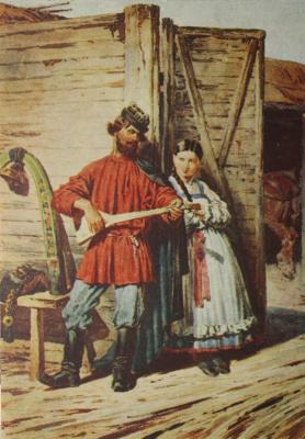 Petr Petrovich Sokolov. At the gate.