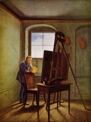Georg Friedrich Kersting. Caspar David Friedrich in his Studio