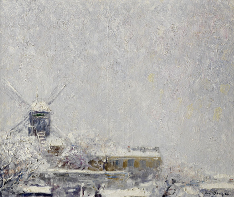 Kees Van Dongen. Moulin de La Galette under the snow